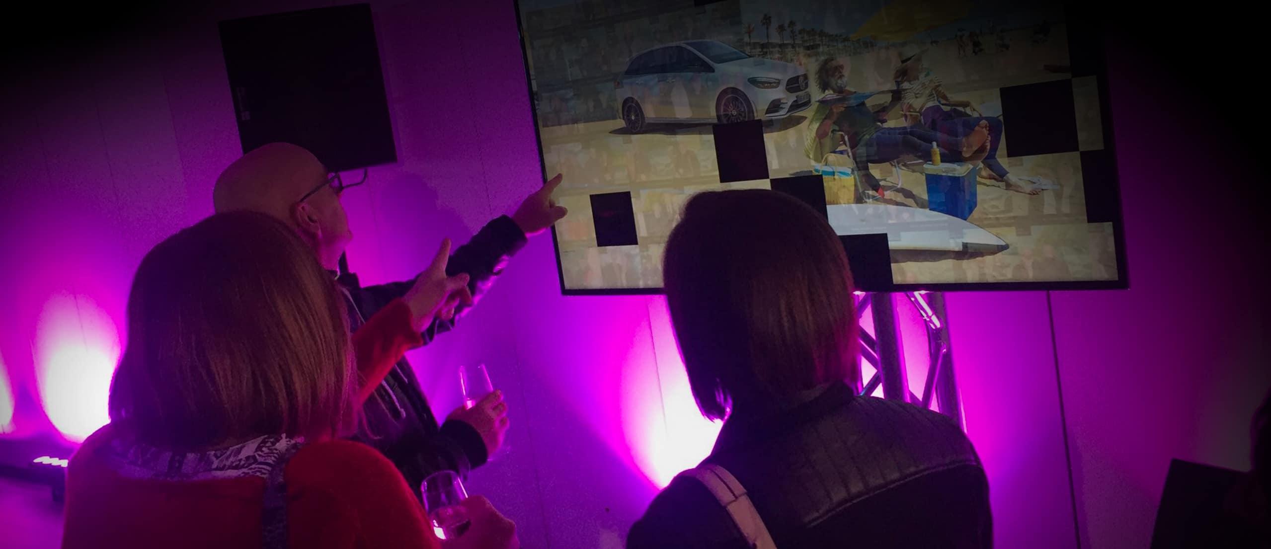 Animation mosaique live Photobooth