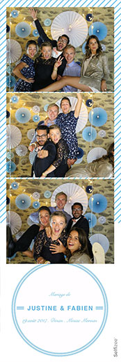 Photobooth mariage marque page