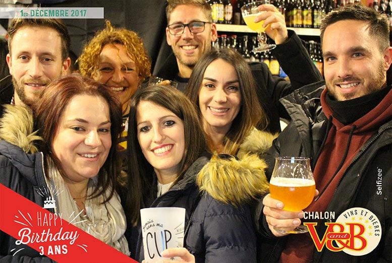 Borne photobooth soirée anniversaire d'entreprise VandB Chalon