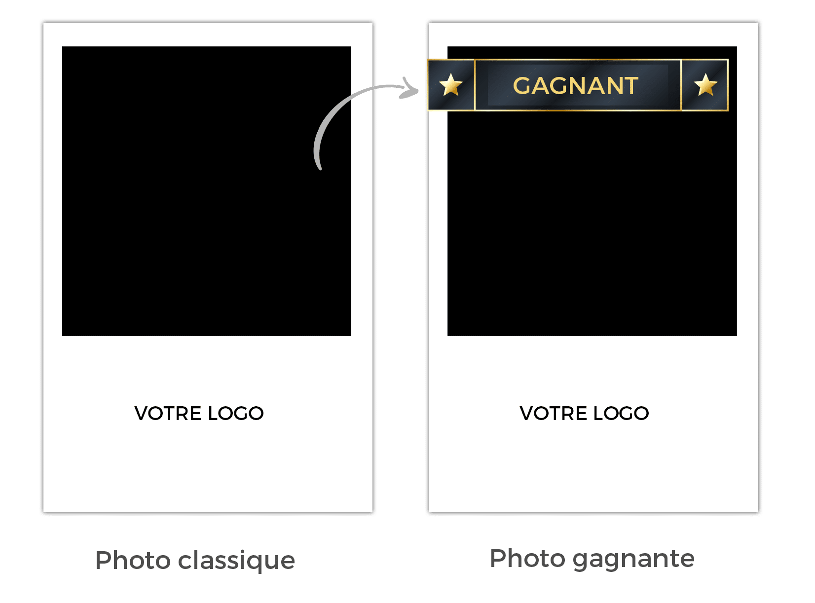 Fonctionnement d'une photo gagnant avec logiciel Photobooth