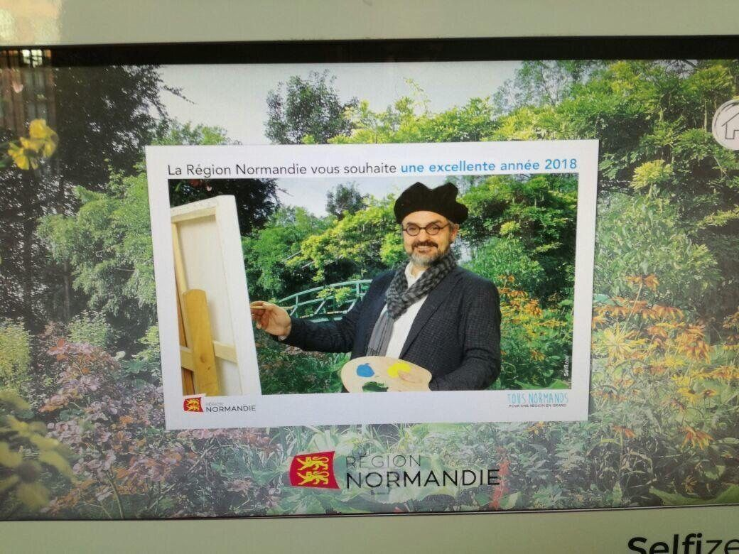 Animation photobooth et fond vert aux voeux du Conseil régional de Normandie à Rouen avec impressions photos