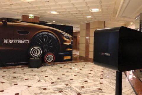 Animation photo Pirelli et borne selfie au Centre Commercial de Fontvieille pour le Grand Prix de Monaco F1 2019