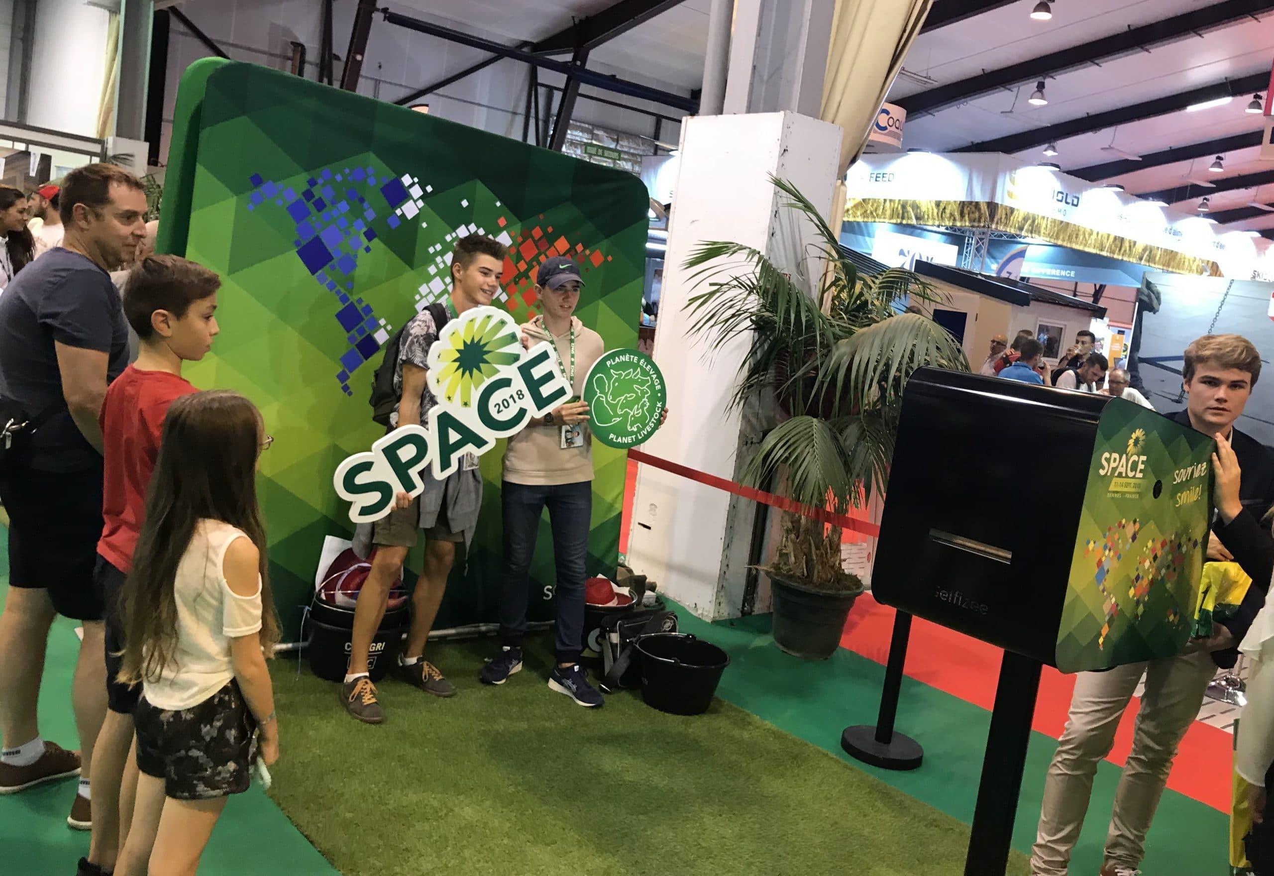 Animation photocall et borne photo personnalisée au salon du SPACE 2018 à Rennes