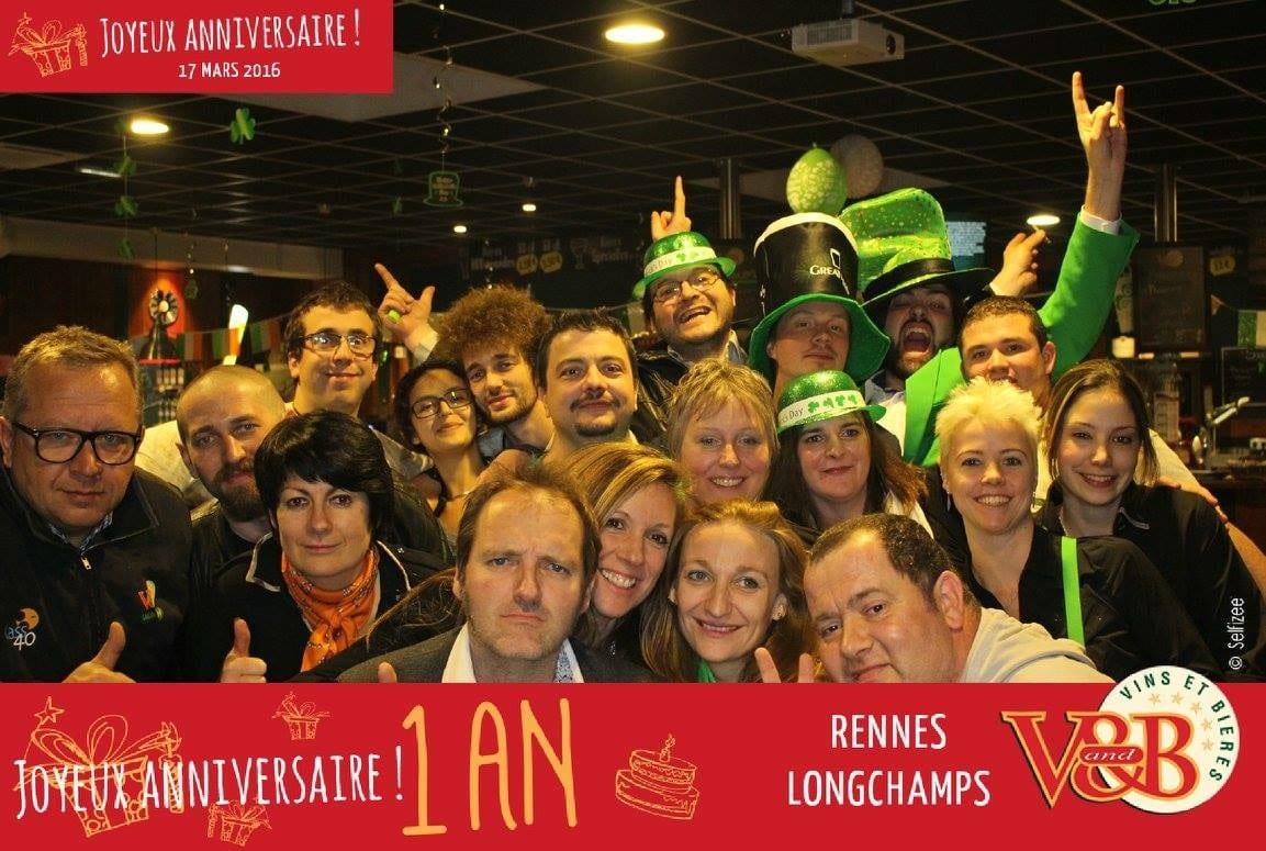 Borne photo pour animation fête un an d'ouverture du V and B Rennes Longchamps en 2016