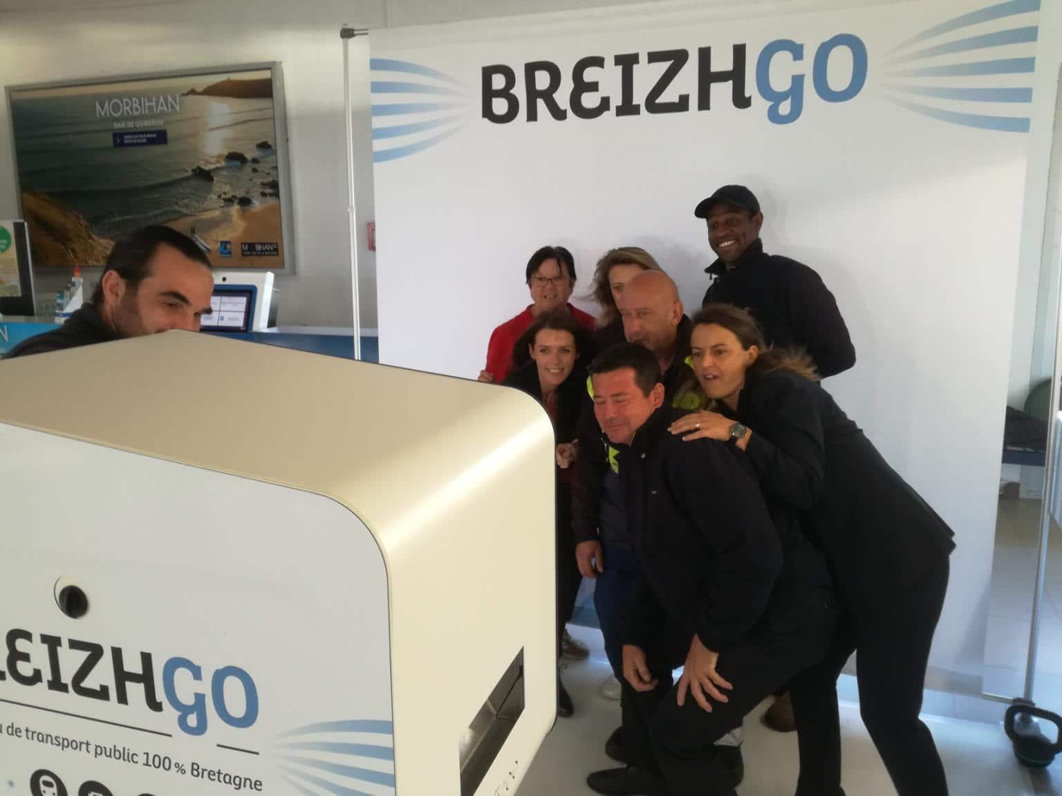 Borne photo avec animation photocall au lancement officiel 2018 de la marque Breizhgo à Lorient dans le Morbihan