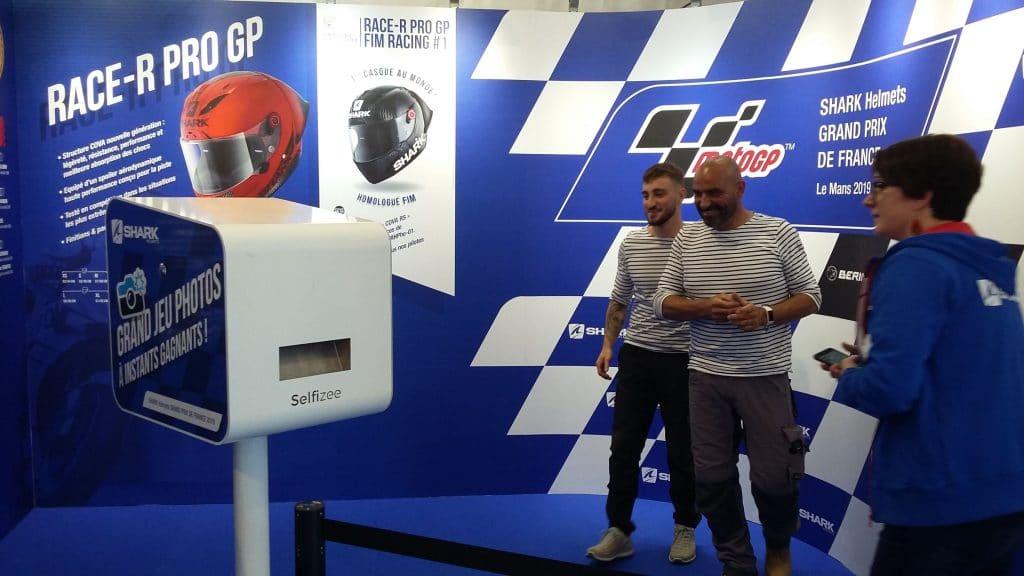 Borne photo et animation photocall au Grand Prix de France Moto GP du Mans