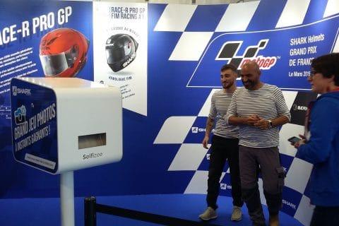 Selfies personnalisés et imprimés au 24h du Mans Grand Prix de France Moto 2019 - animation borne photo et jeu instant gagnant