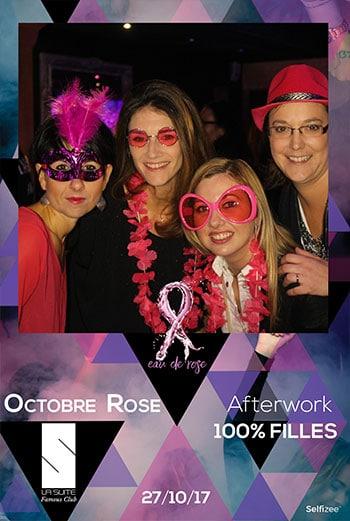 Borne photo à la soirée afterwork 100% filles à La Suite Rennes