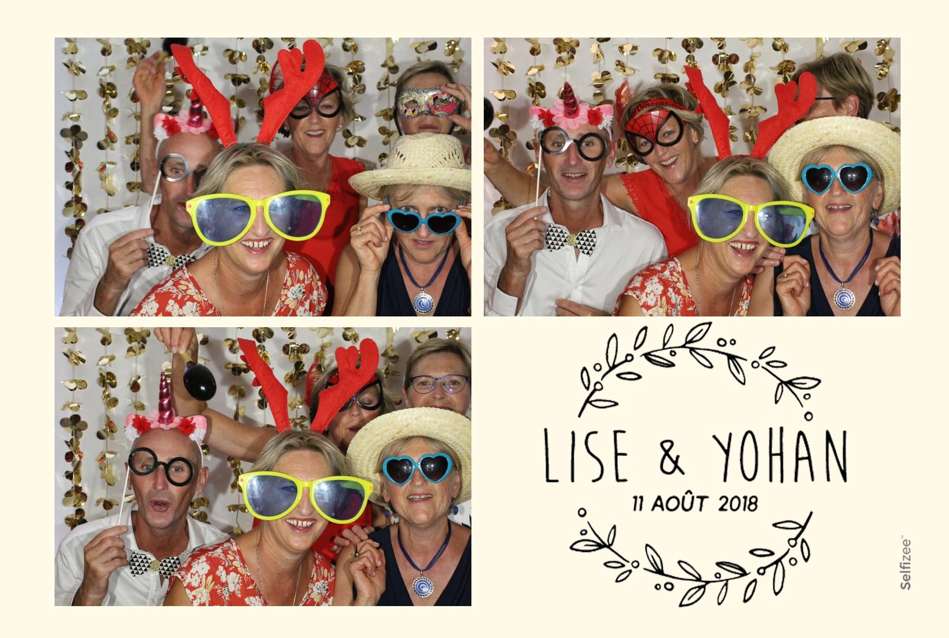 Selfie groupe mariage ou fête avec accessoires à Vannes - location box selfie avec shooting illimité dans le Morbihan