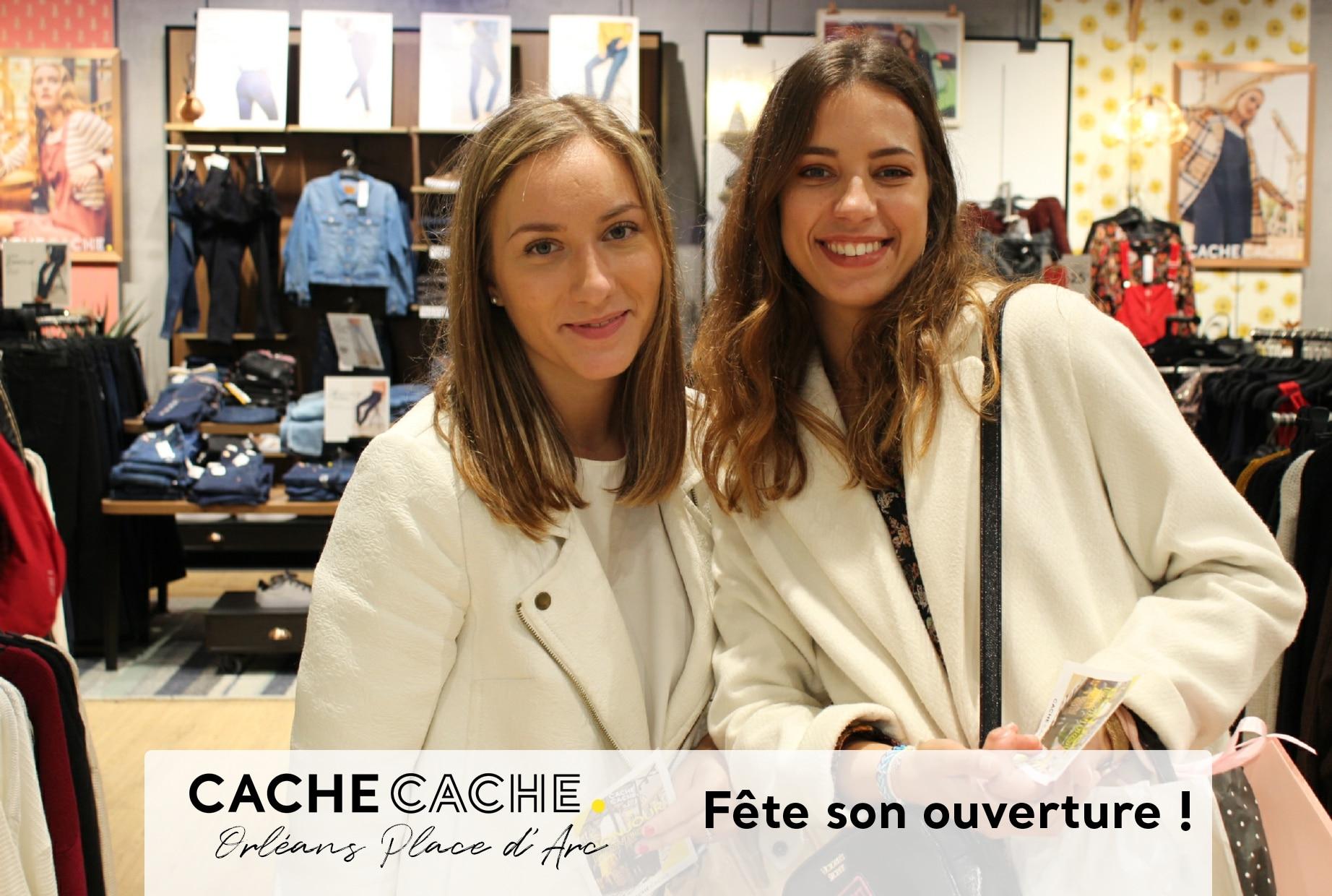 Borne selfie animation photo à l'inauguration nouveau magasin Cache Cache au centre commercial Place d'Arc à Orléans en 2019