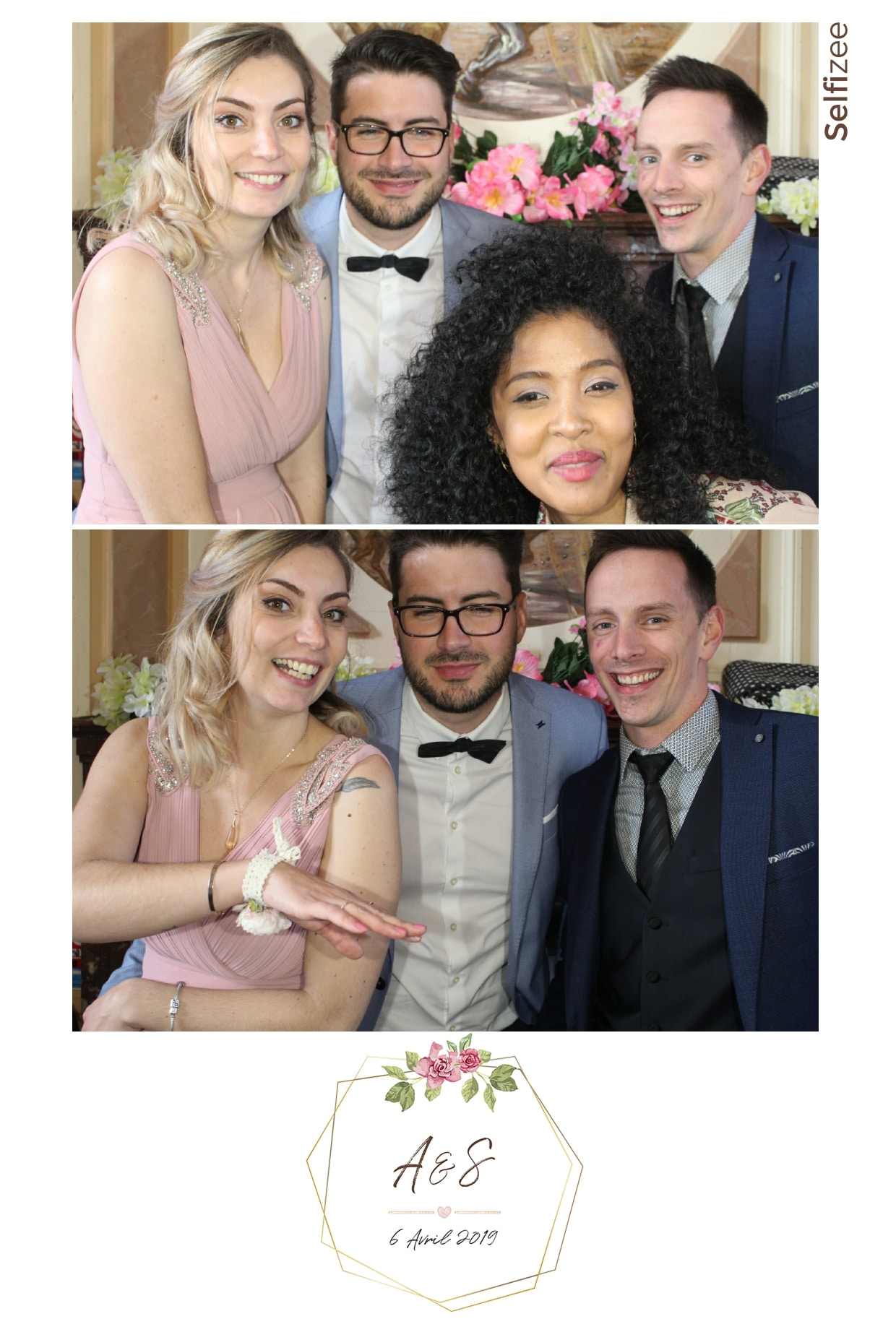 Animation photo mariage Angers - selfie box avec photos personnalisées et impressions mariage ou fête en Maine et Loire