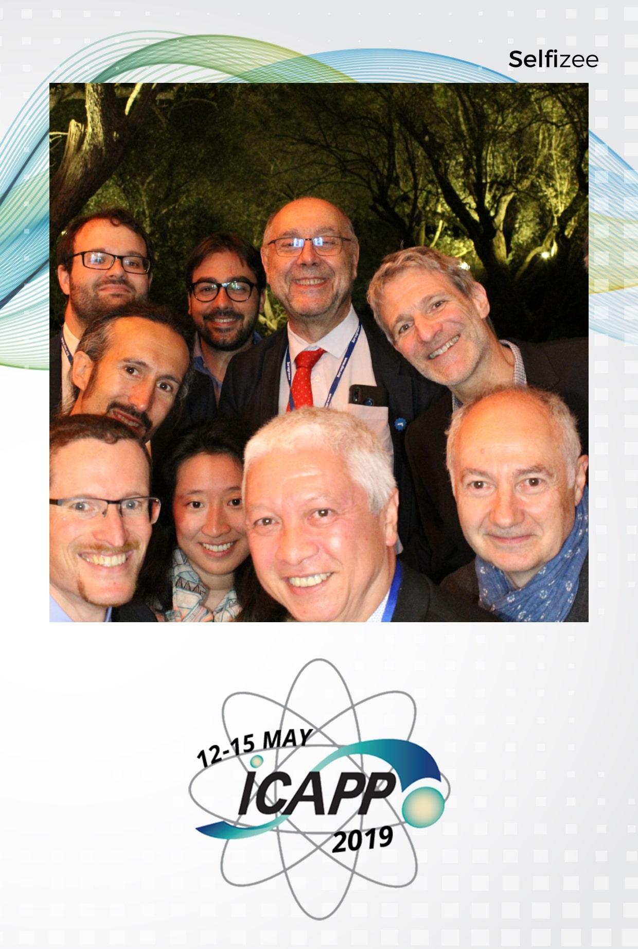 Photobooth connecté au congrès international ICAPP 2019 avec impressions photos soirée à la Bastide du Roy Antibes près de Cannes