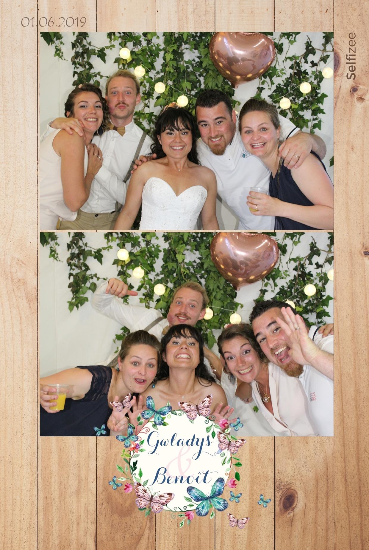 Animation photobooth mariage La Rochelle avec impressions photos - location selfie box fête en Charente Maritime