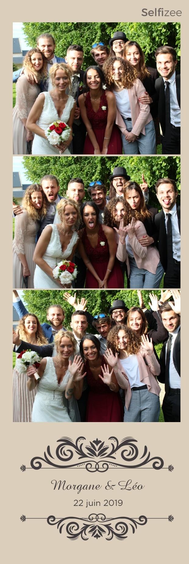 Borne photo mariage Caen et dans le Calvados avec impressions selfies et photos souvenirs personnalisées