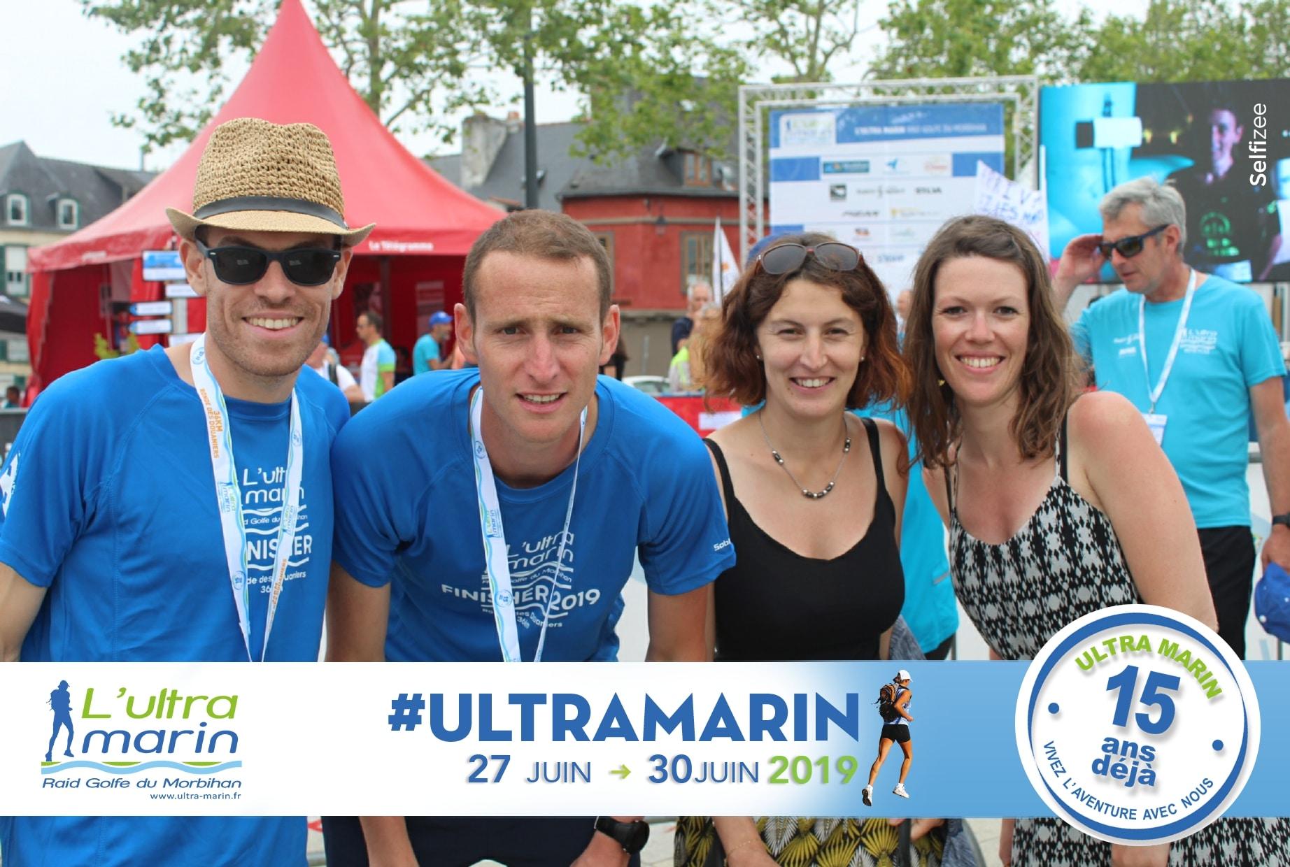 Borne selfie pour animation photo personnalisée à l'Ultra Marin Raid Golfe du Morbihan pour les participants et visiteurs