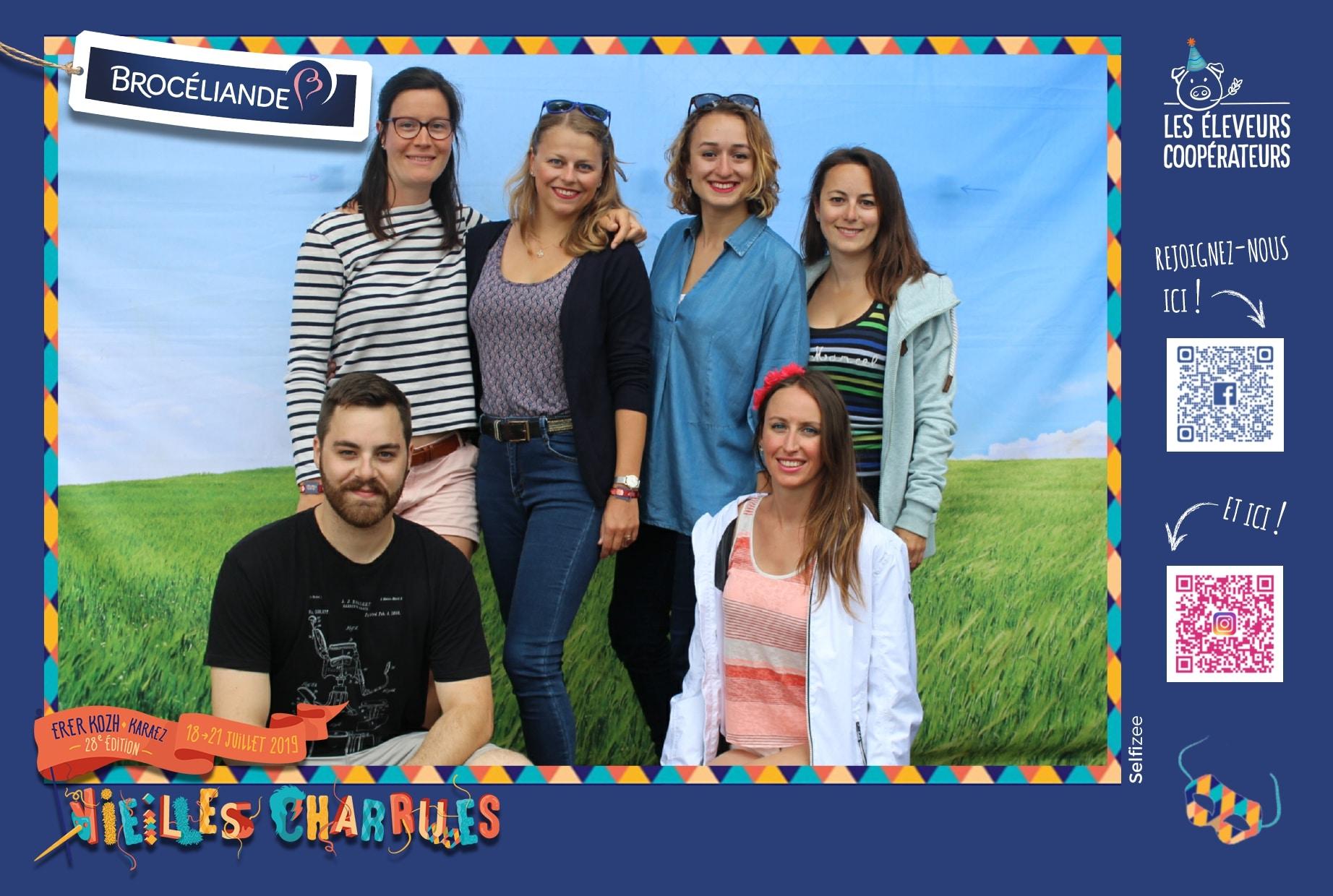 Animation photocall et borne selfie au stand Brocéliande à l'édition 2019 du festival des Vieilles Charrues à Carhaix Plouguer dans le Finistère