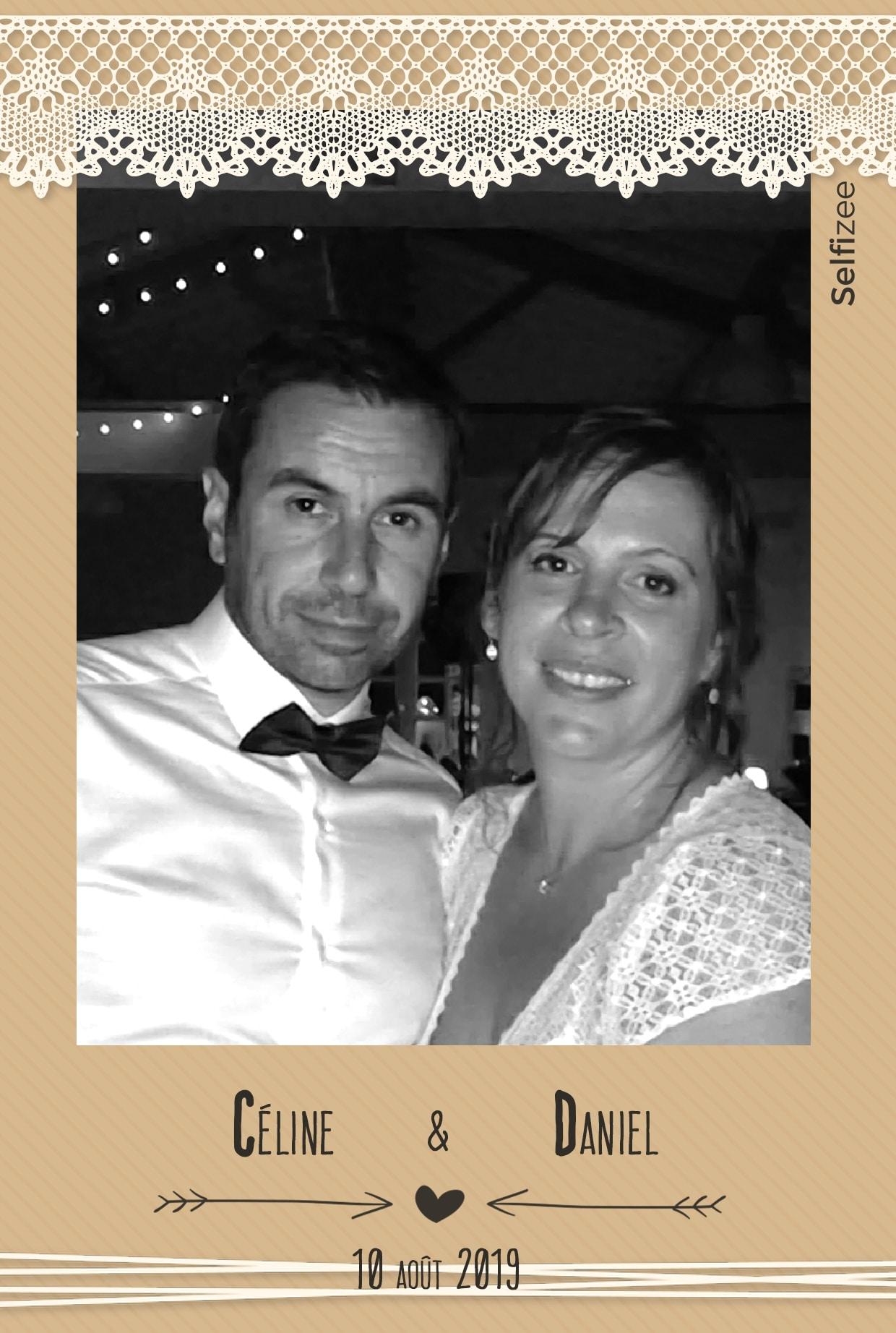 Photo personnalisée mariage Bayonne avec impressions selfies - borne photo à louer pour animation fête mariage Bayonne et Pyrénées Atlantiques