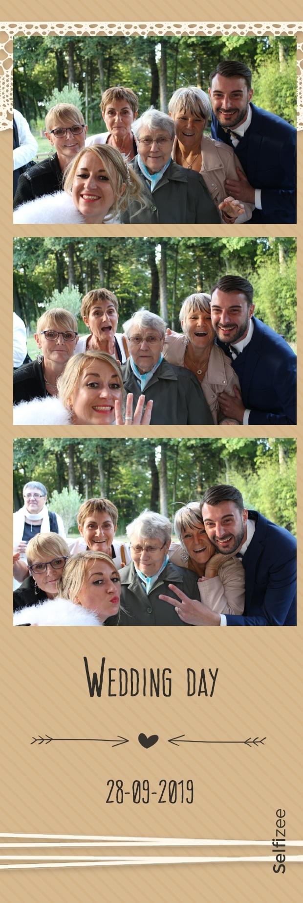 Selfie mariage animation photobooth avec imprimante photos à Redon et en Ille et Vilaine