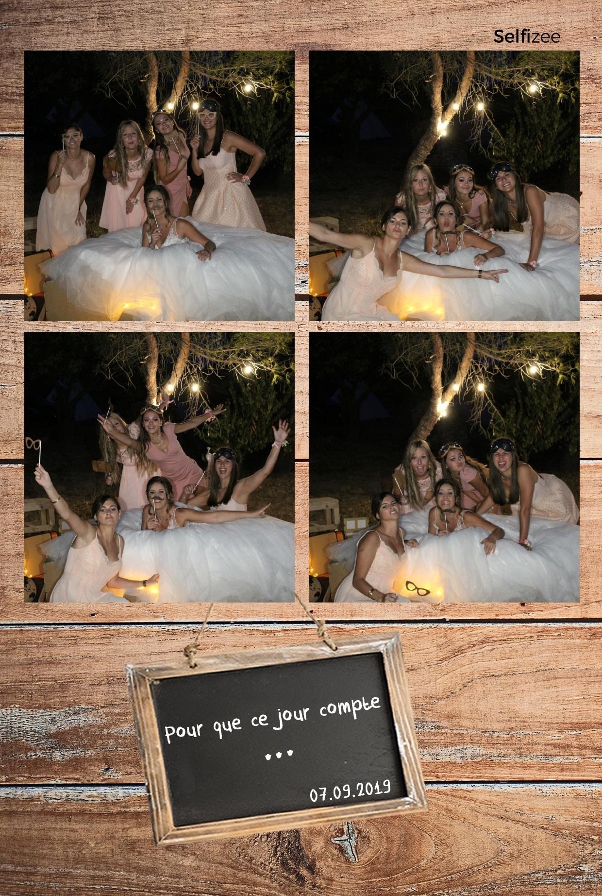 Photo personnalisée mariage avec borne selfie connectée à louer à Avignon et dans le Vaucluse pour animation mariage, anniversaire, fête, soirée, baptême