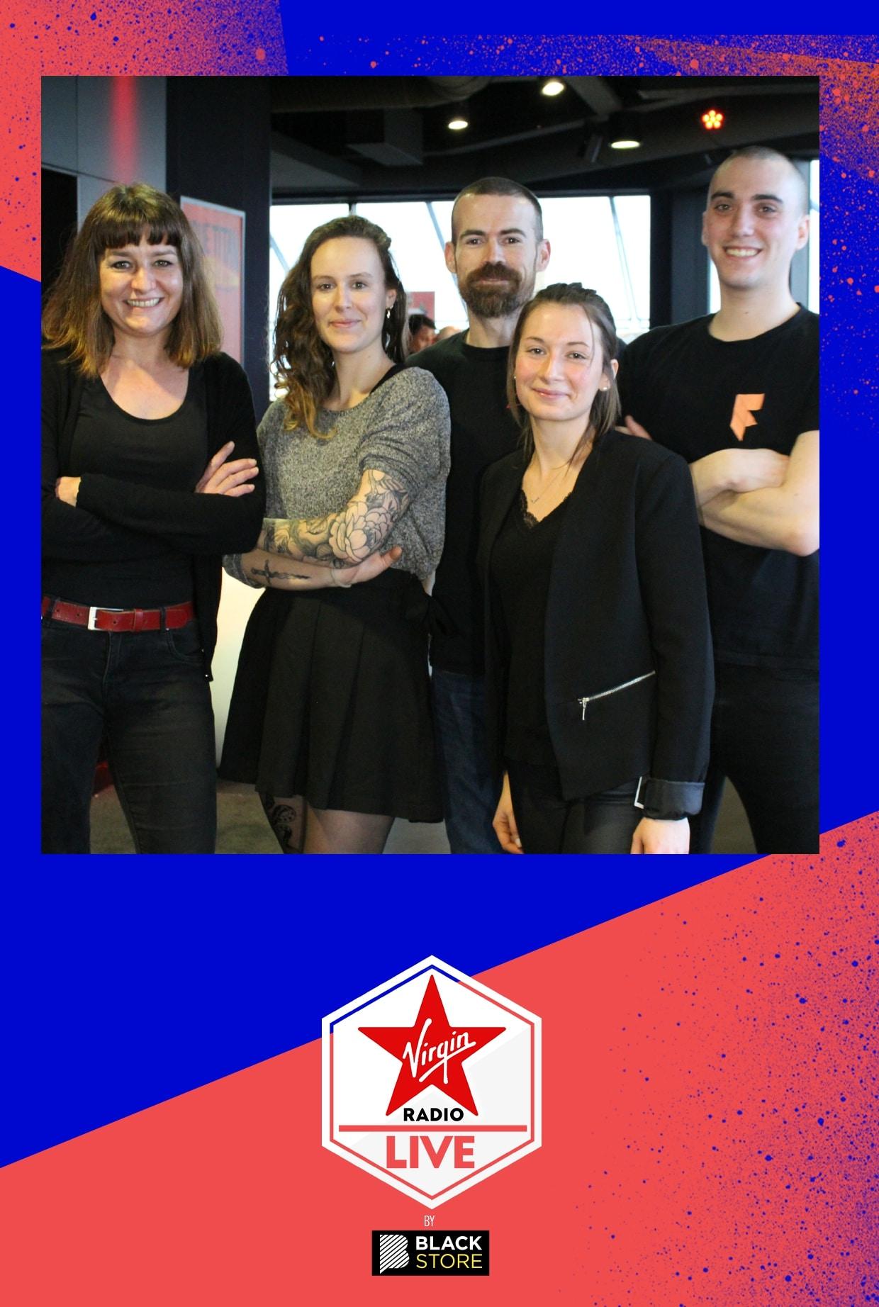 Animation borne selfie et impressions photos au concert privé de Virgin Radio à Nantes en Loire Atlantique en mars 2020