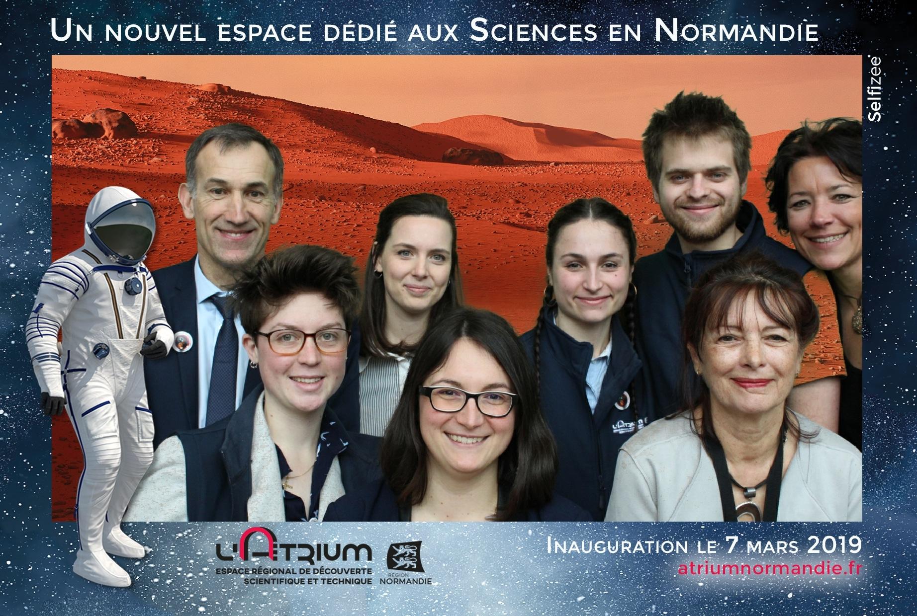 Borne selfie et animation fond vert pour soirée inauguration nouvel espace au L'Atrium Normandie à Rouen