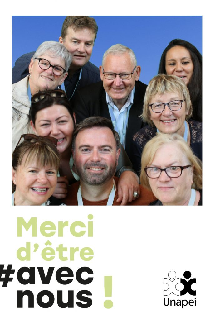Borne photo selfie Selfizee lors d'une animation photobooth au congrès de l'unapei de Lyon
