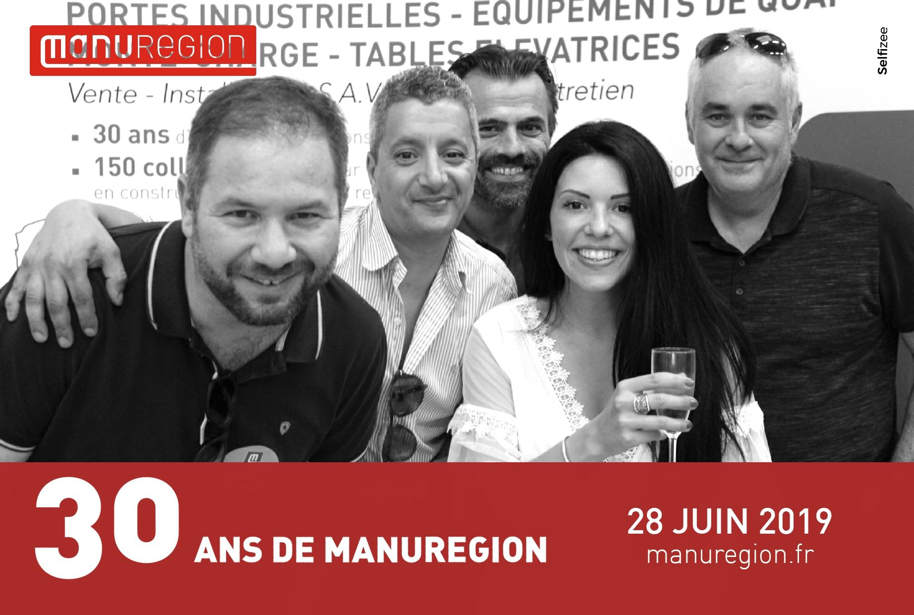 Animation borne photo soirée anniversaire Manurégion Reims avec selfies personnalisés des visiteurs et clients
