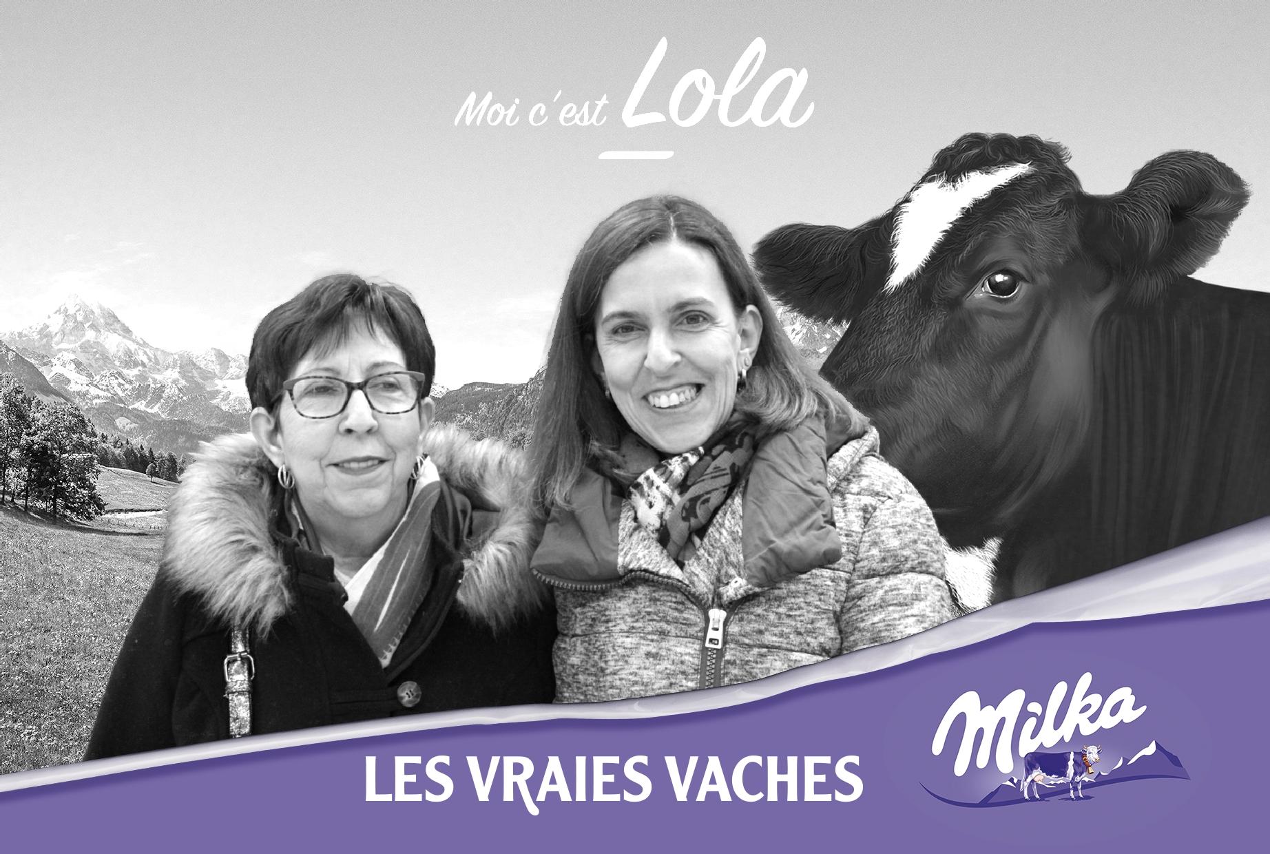 Borne photo connectée et animation fond vert pour selfie Milka lancement nouveaux produits 2020 à Cora Saint Avold en Moselle à l'est de Metz