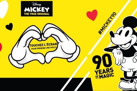 Animation borne selfie photobooth pour les 90 ans de Mickey au siège social de Carrefour à Massy